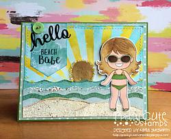 Beach Babes Digital Stamps