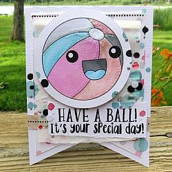 Beach Ball Digital Stamps