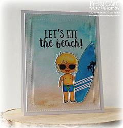 Beach Bums Digital Stamps