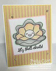 Happy as a Clam Digital Stamps