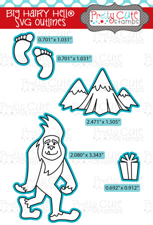 Big Hairy Hello SVG Outlines