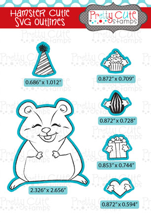 Hamster Cutie SVG Outlines