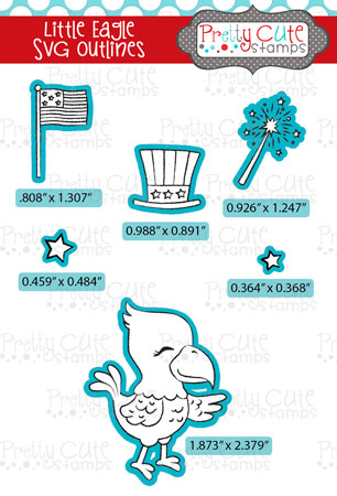 Little Eagle SVG Outlines