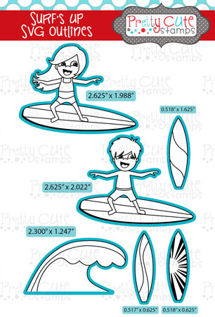 Surf\'s Up SVG Outlines
