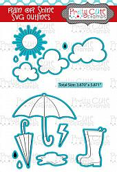 Rain or Shine SVG Outlines