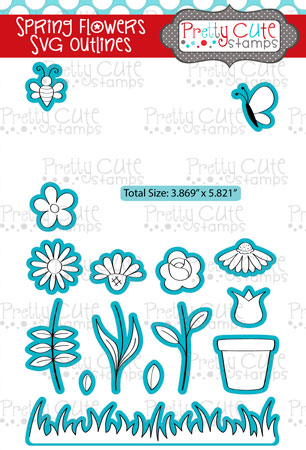 Spring Flowers SVG Outlines