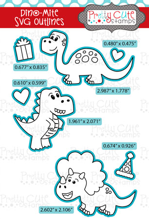 Dino-Mite SVG Outlines