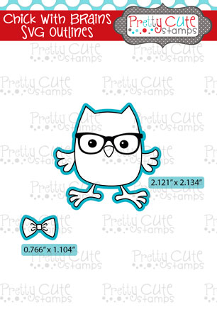 Chick with Brains SVG Outlines
