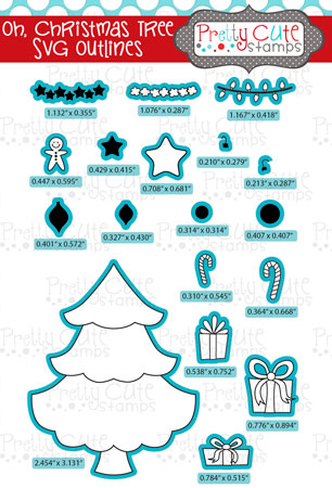Oh, Christmas Tree SVG Outlines