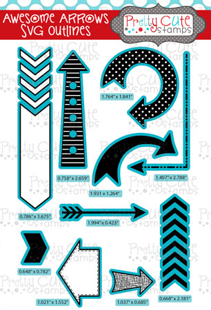 Awesome Arrows SVG Outlines