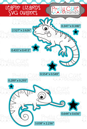 Leapin' Lizards SVG Outlines