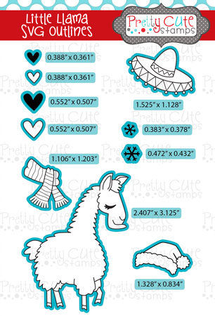 Little Llama SVG Outlines