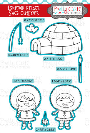 Eskimo Kisses SVG Outlines