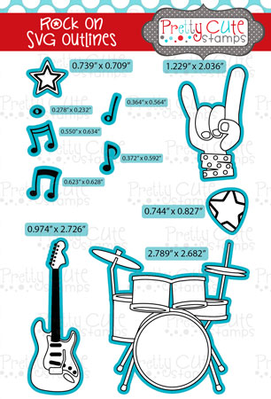 Rock On SVG Outlines