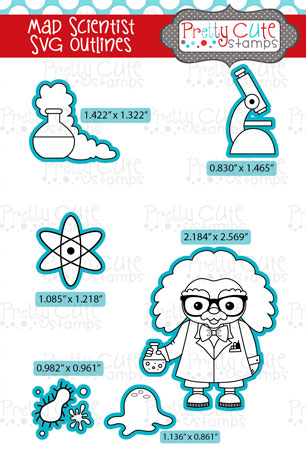 Mad Scientist SVG Outlines