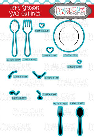 Let\'s Spoon SVG Outlines