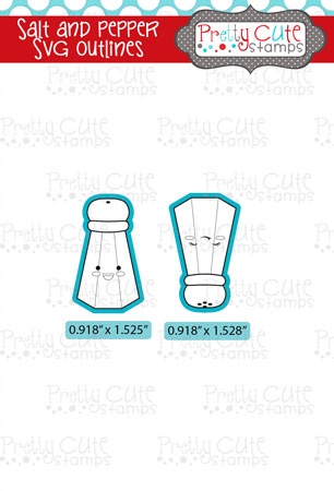 Salt and Pepper SVG Outlines