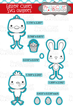 Easter Cuties SVG Outlines