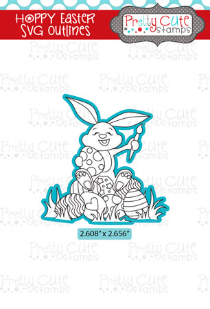Hoppy Easter SVG Outlines