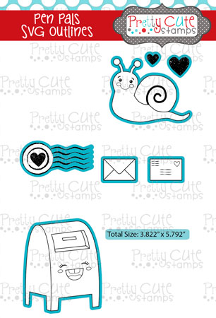 Pen Pals SVG Outlines