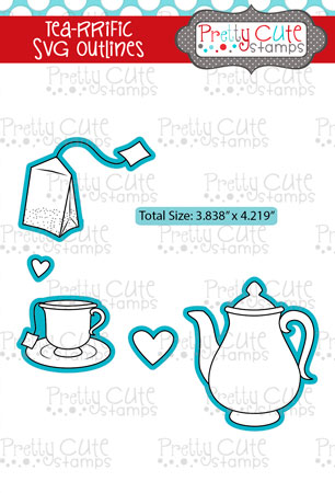 Tea-rrific SVG Outlines