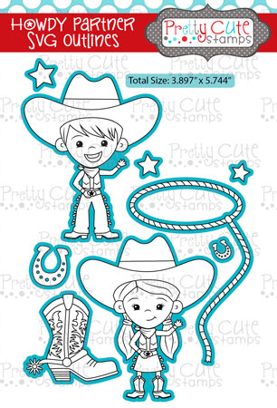 Howdy Partner SVG Outlines