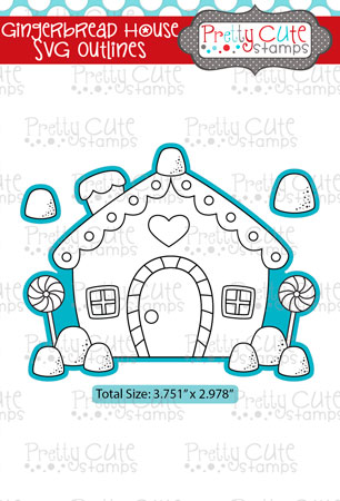 Gingerbread House SVG Outlines