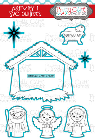 Nativity 1 SVG Outlines