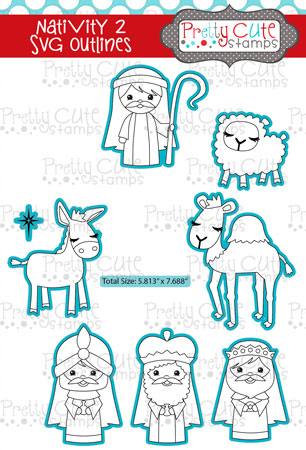 Nativity 2 SVG Outlines
