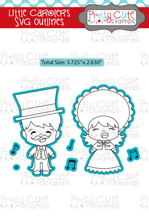 Little Carolers SVG Outlines