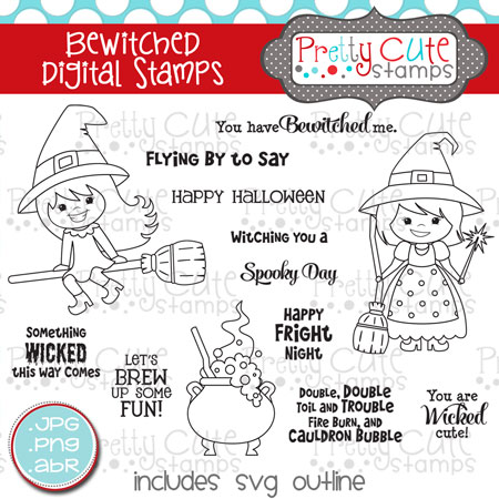Bewitched Digital Stamps