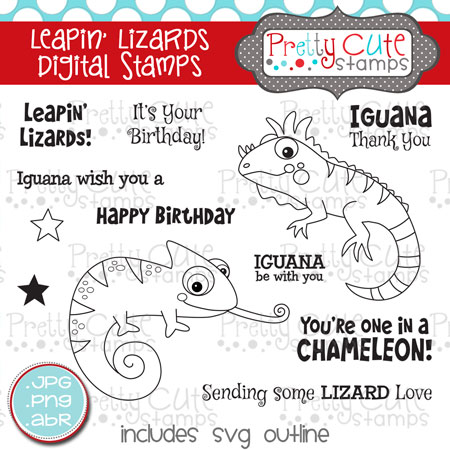 Leapin' Lizards Digital Stamps
