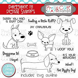 Doggone It! Digital Stamps