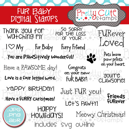 Fur Baby Digital Stamps