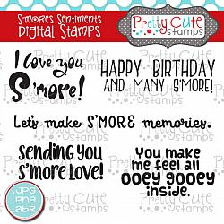 S'mores Sentiments Digital Stamps