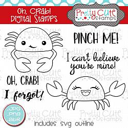 Oh, Crab! Digital Stamps