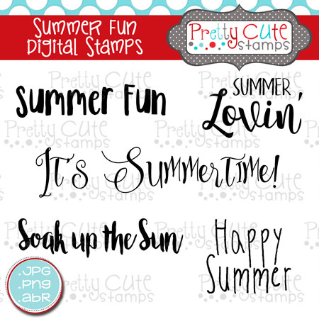 Summer Fun Digital Stamps