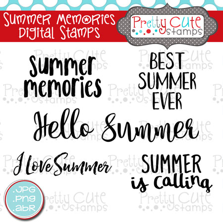 Summer Memories Digital Stamps