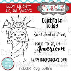 Lady Liberty Digital Stamps