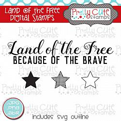 Land of the Free Digital Stamps