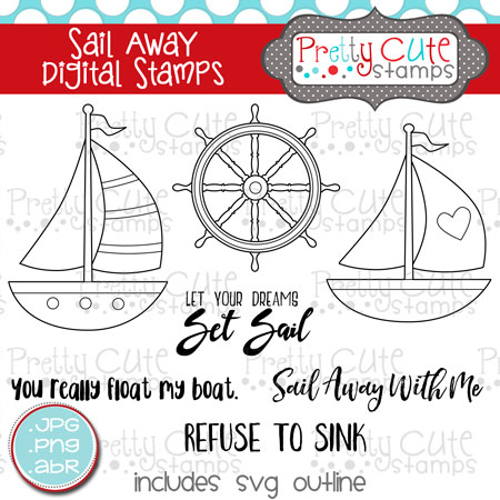 Sail Away Digital Stamps