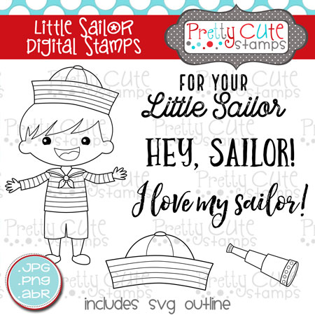 Little Sailor Digital Stamps