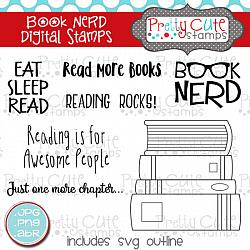 Book Nerd Digital Stamps