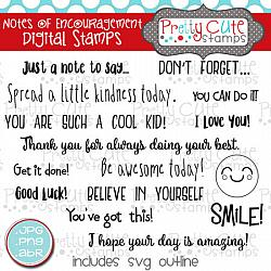 Notes of Encouragement Digital Stamps