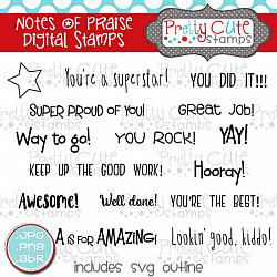 Notes of Praise Digital Stamps