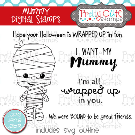 Mummy Digital Stamps