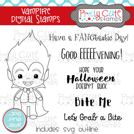 Vampire Digital Stamps