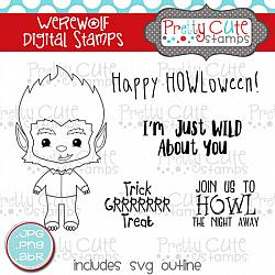 Werewolf Digital Stamps