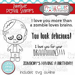 Zombie Digital Stamps