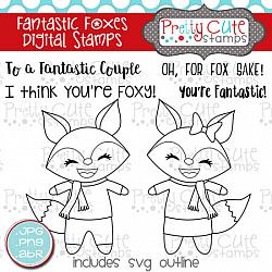 Fantastic Foxes Digital Stamps